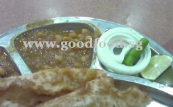 bhattura (batura) with dal