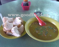 Mutton soup with bread