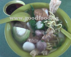 Yong tau hu with noodles